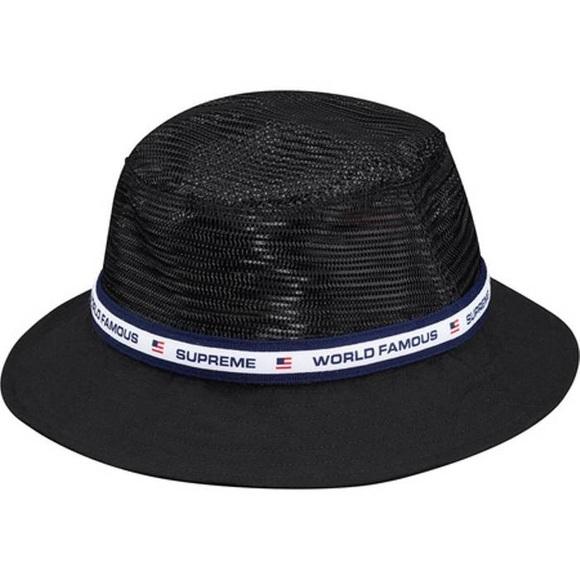 Supreme Mesh Crown Crusher Bucket Hat Black 0567e550d4cf